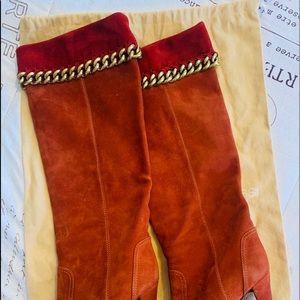 Authentic Sergio Rossi Leather Stiletto Boots
